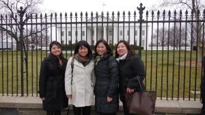 From left: Amy Watanabe, Eri Kameyama, Priscilla Ouchida, Nancy Okubo