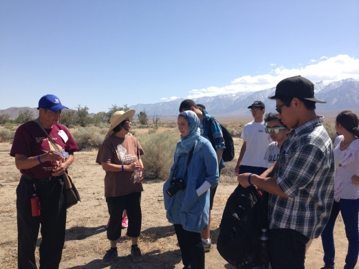 Wilbur Sato leading us on a tour of Manzanar